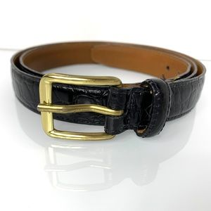 Jos. A Bank Black Leather Alligator Belt